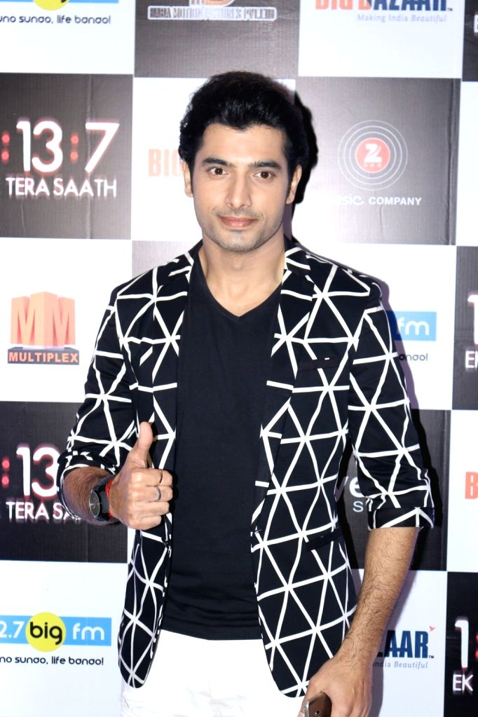 Actor Sharad Malhotra during the trailer and music launch of film 1:13:7 Ek Tera Saath in Mumbai on Sept. 16, 2016. - Sharad Malhotra
