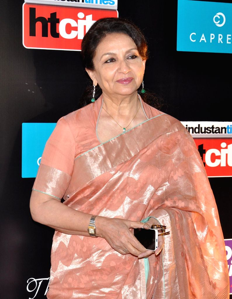 Actor Sharmila Tagore during the Red carpet of HT Delhi`s Most Stylish Awards at the Oberoi Hotel Gurgaon on April 18, 2014. - Sharmila Tagore