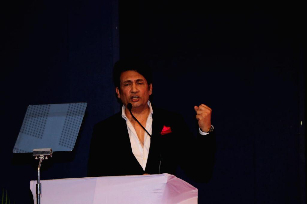 Actor Shekhar Suman addresses at the launch of Ambagopal Foundation Cancer Initiative on the occasion of World Cancer Day, in Mumbai on Feb 4, 2020. - Shekhar Suman