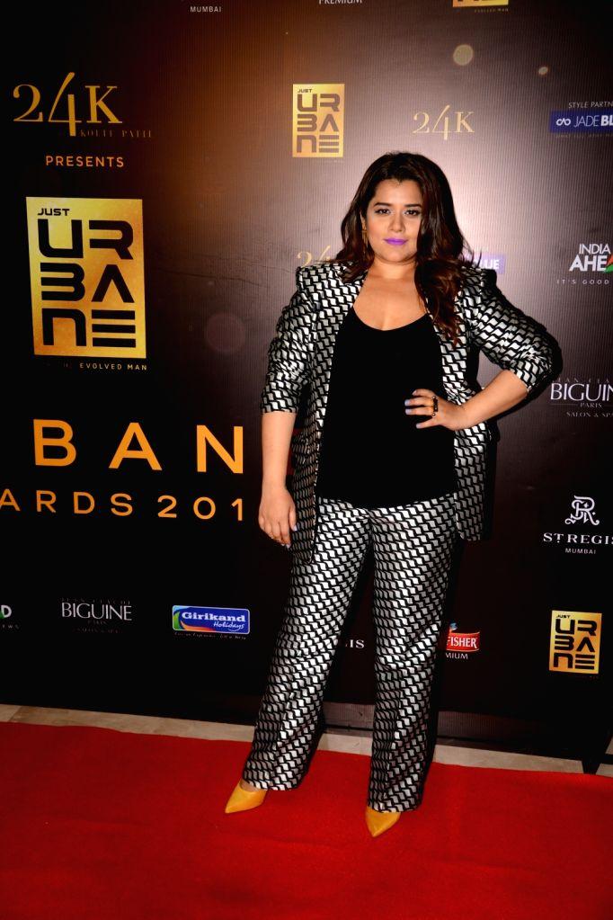 """Actor Shikha Talsania on the red carpet of """"Urbane Awards 2019"""", in Mumbai, on June 1, 2019. - Shikha Talsania"""
