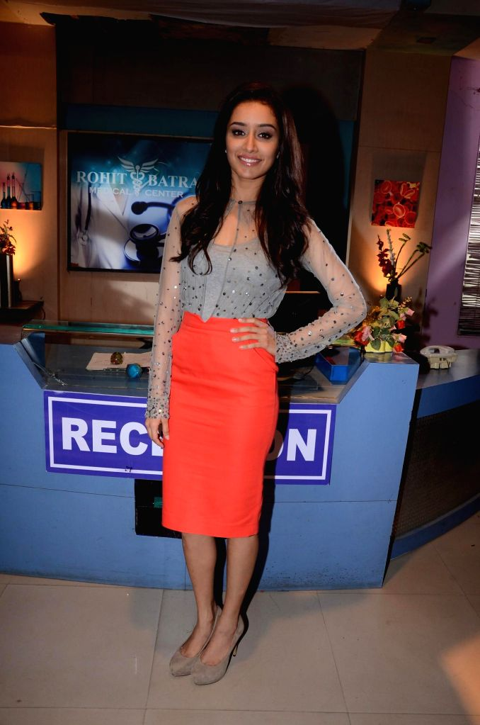 Actor Shraddha Kapoor during the promotion of the film Ek Villain on the sets of television serial Ye Hai Mohabbatein in Mumbai on June 24th, 2014. - Shraddha Kapoor