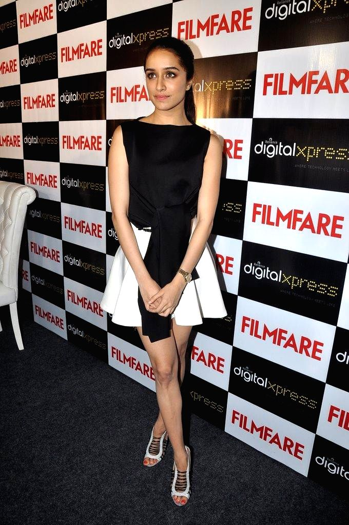 Actor Shraddha Kapoor during the unveiling of Filmfare magazine`s September cover issue in Mumbai on Aug 28, 2014.
