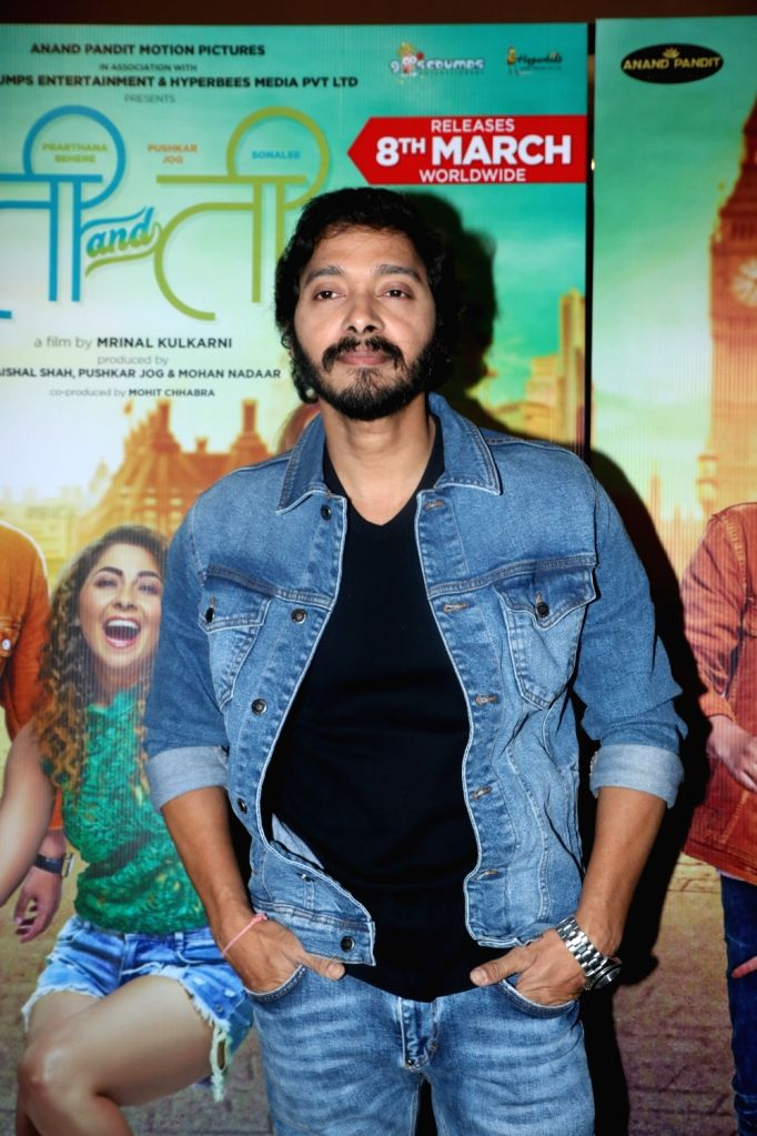 "Actor Shreyas Talpade at the screening of upcoming Marathi film ""Ti And Ti"" in Mumbai, on March 7, 2019. - Shreyas Talpade"