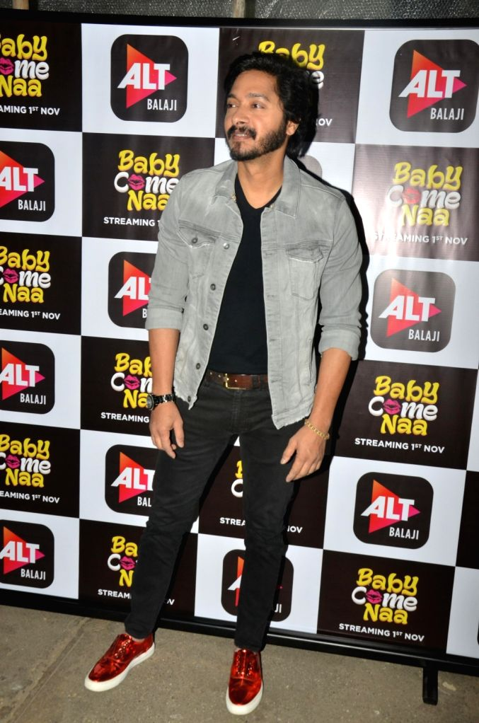 """Actor Shreyas Talpade at the screening of ALT Balaji's """"Baby Come Naa"""" web series in Mumbai on Oct 30, 2018. - Shreyas Talpade"""
