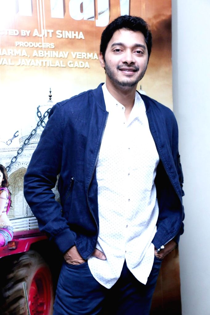 Actor Shreyas Talpade during the screening of film Wah Taj, in Mumbai on Sept 22, 2016. - Shreyas Talpade