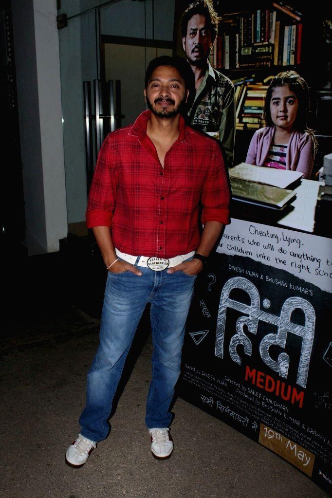 Actor Shreyas Talpade during the screening of the film Hindi Medium in Mumbai on May 17, 2017. - Shreyas Talpade