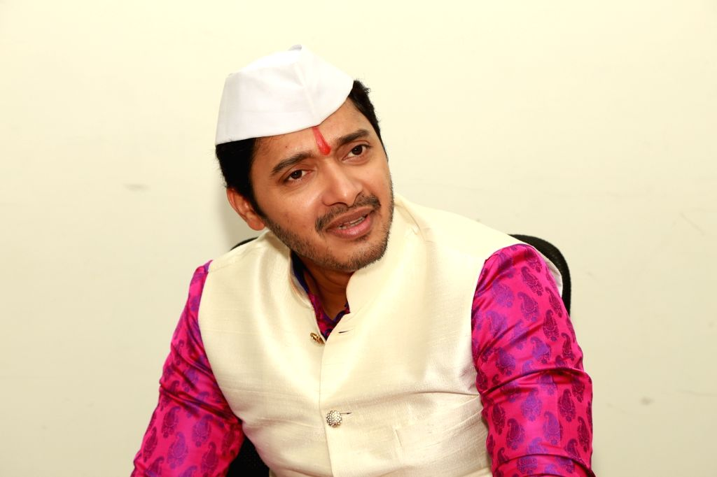 Actor Shreyas Talpade visits IANS office in New Delhi, on Sept 19, 2016. - Shreyas Talpade