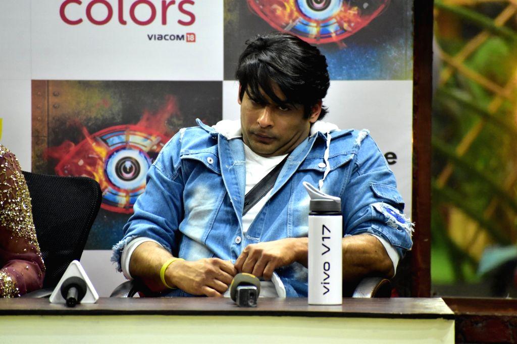 Actor Siddharth Shukla at Bigg Boss 13 press conference, in Mumbai on Feb 5, 2020. - Siddharth Shukla