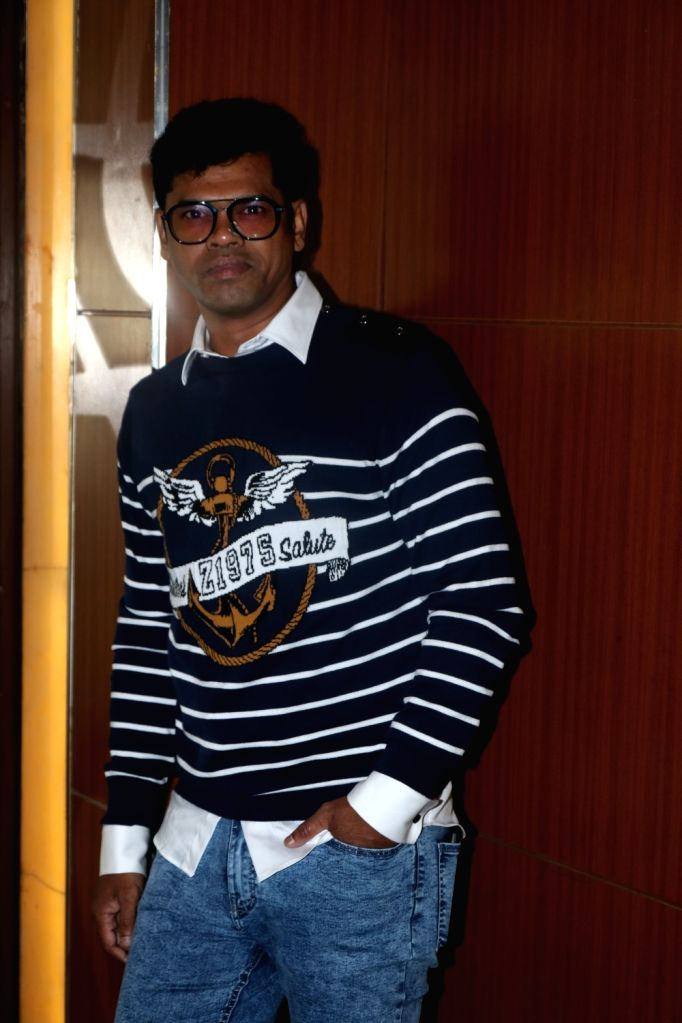 "Actor Siddhartha Jadhav at the screening of upcoming Marathi film ""Ti And Ti"" in Mumbai, on March 7, 2019. - Siddhartha Jadhav"