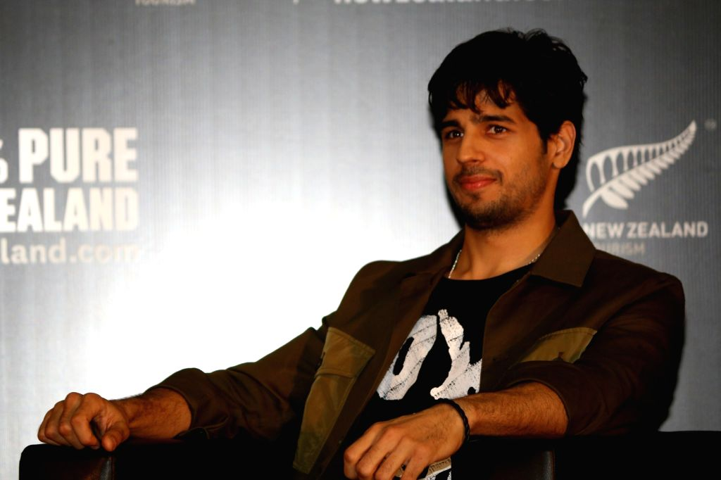 Actor Sidharth Malhotra and brand ambassador for Tourism New Zealand during a press conference in Mumbai, on Jan 24, 2017. - Sidharth Malhotra