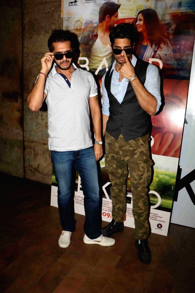 Actor Sidharth Malhotra and filmmaker Ritesh Sidhwani during the trailer launch of film Baar Baar Dekho in Mumbai, on Aug 2, 2016. - Sidharth Malhotra