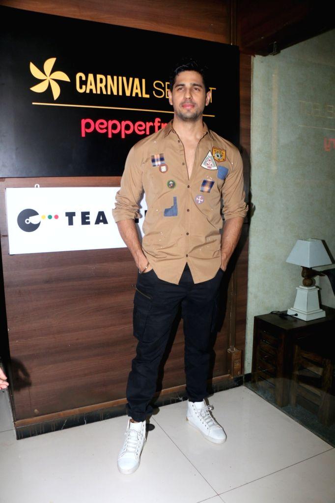 Actor Sidharth Malhotra at the launch of  Carnival cinema Lounge in Mumbai on Feb 16, 2018. - Sidharth Malhotra