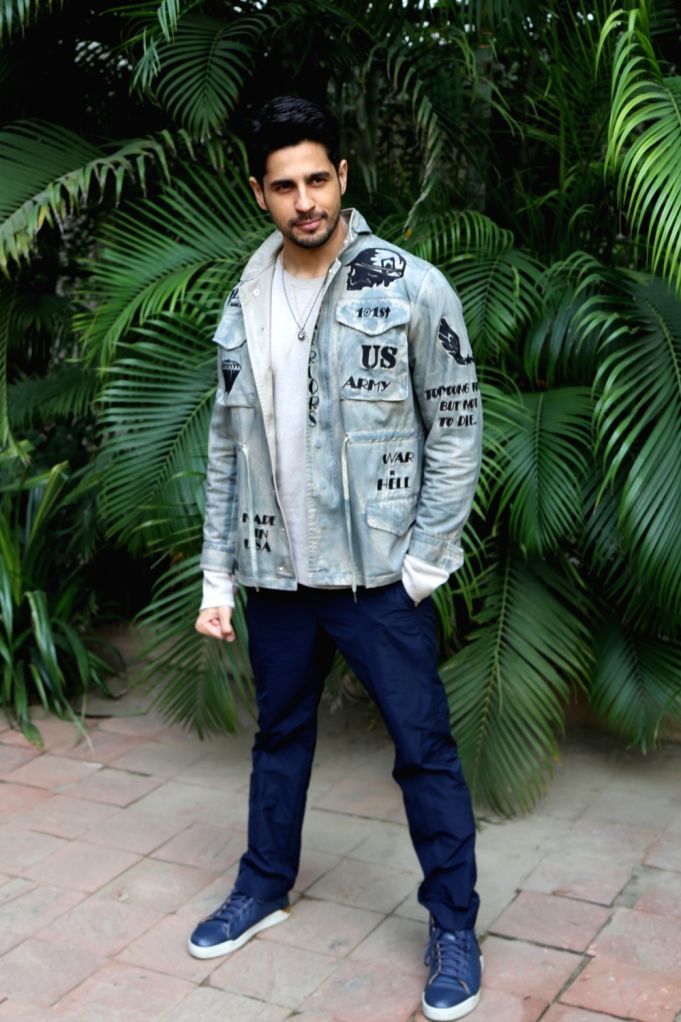 """Actor Sidharth Malhotra during a programme organised to promote """"Marjaavaan"""" in New Delhi on Nov 12, 2019. - Sidharth Malhotra"""