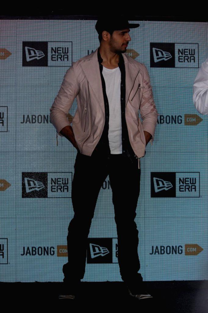 Actor Sidharth Malhotra during the launch of International sports brand, New Era partnership with Jabong in Mumbai on March 3, 2017. - Sidharth Malhotra