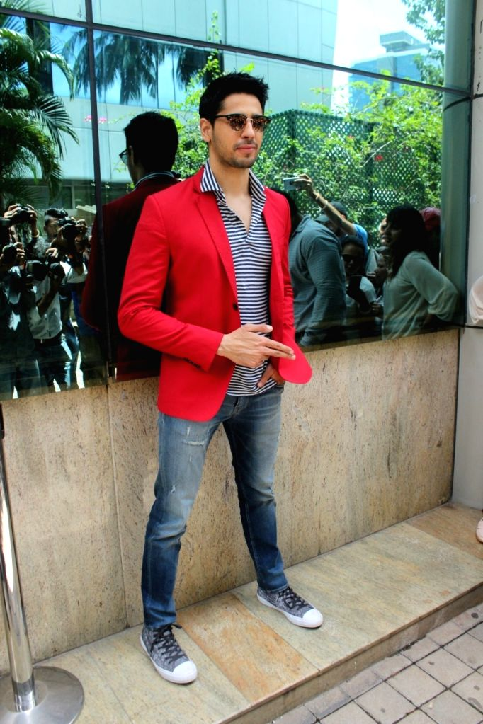 "Actor Sidharth Malhotra during the song launch of his upcoming film ""A Gentleman"" in Mumbai on Aug 16, 2017. - Sidharth Malhotra"