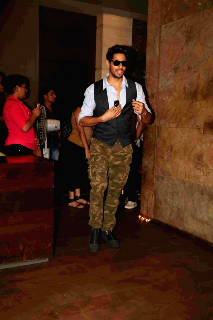 Actor Sidharth Malhotra during the trailer launch of film Baar Baar Dekho in Mumbai, on Aug 2, 2016. - Sidharth Malhotra