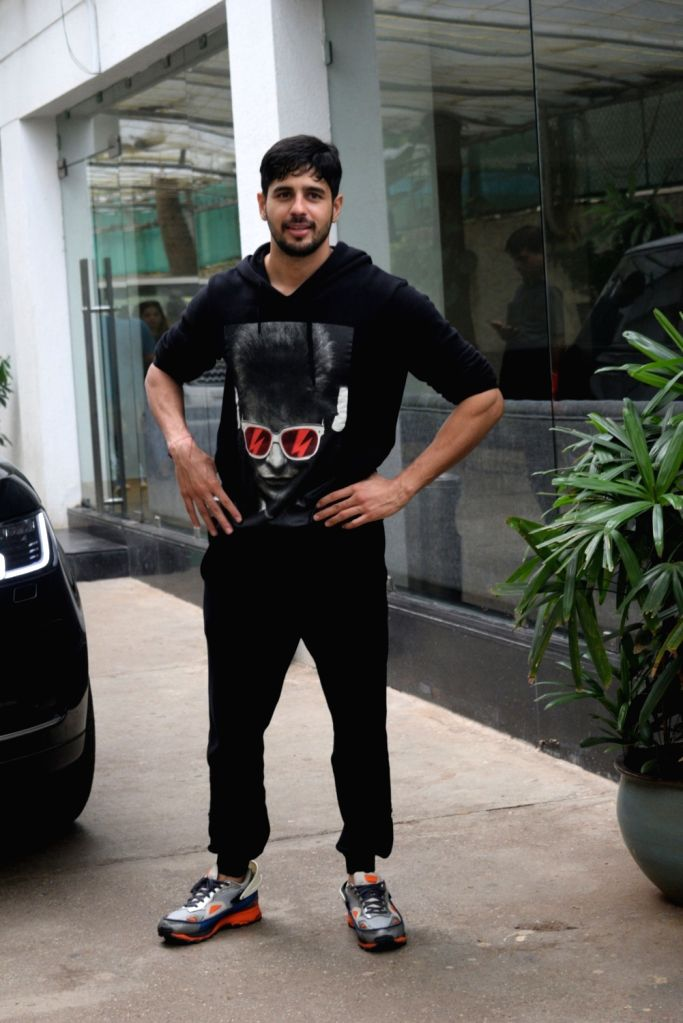 Actor Sidharth Malhotra seen at a sound studio in Mumbai on July 17, 2019. - Sidharth Malhotra