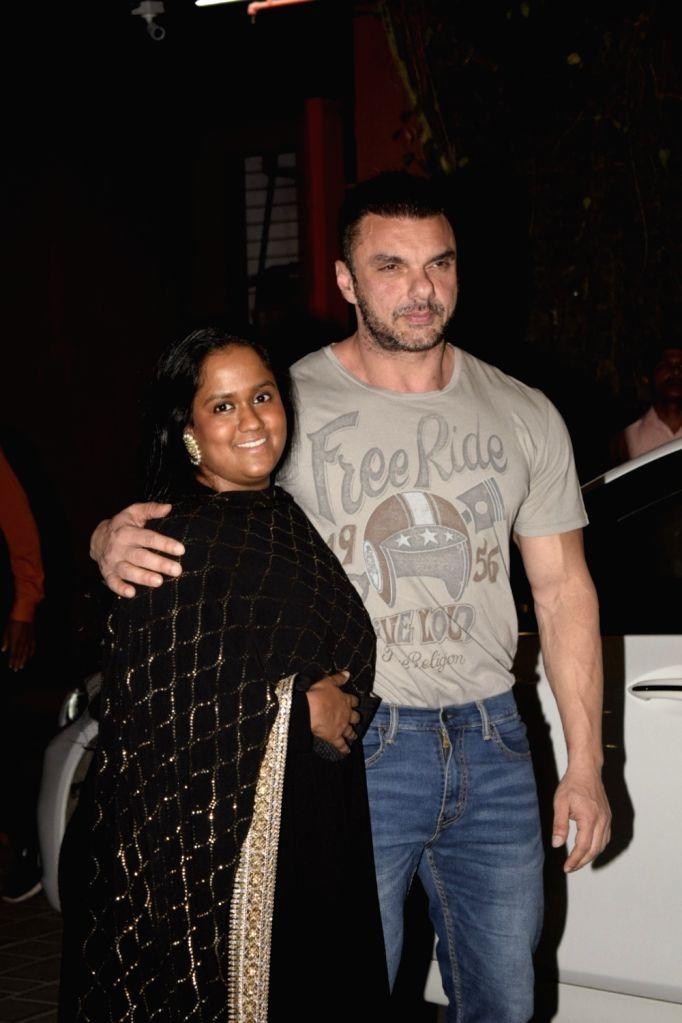 Actor Sohail Khan at mother Salma Khan's birthday party hosted by sister Arpita Khan Sharma in Mumbai, on Dec 7, 2018. - Sohail Khan, Salma Khan and Arpita Khan Sharma