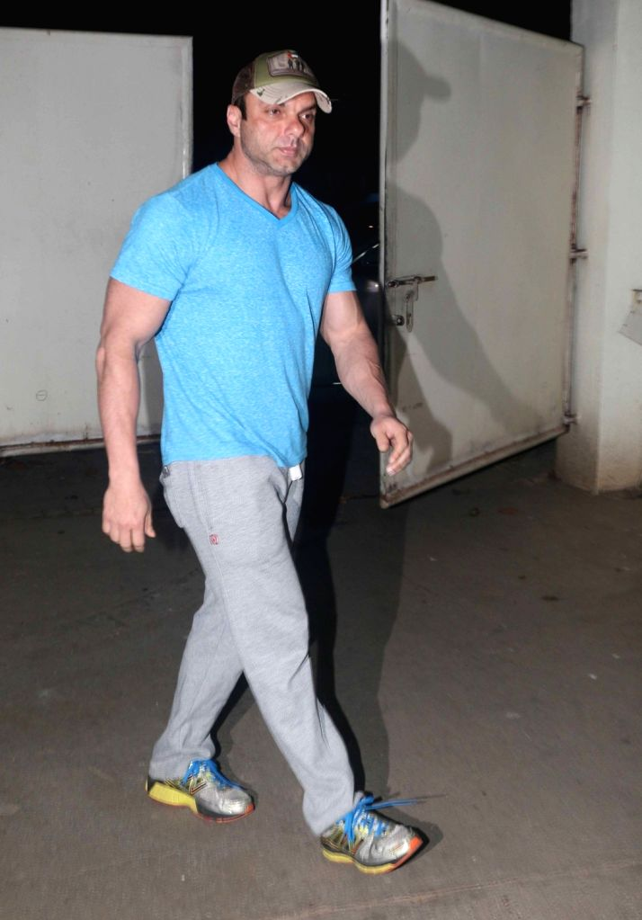 "Actor Sohail Khan at the special screening of upcoming film ""My Birthday Song"" in Mumbai on Jan 16, 2018. - Sohail Khan"