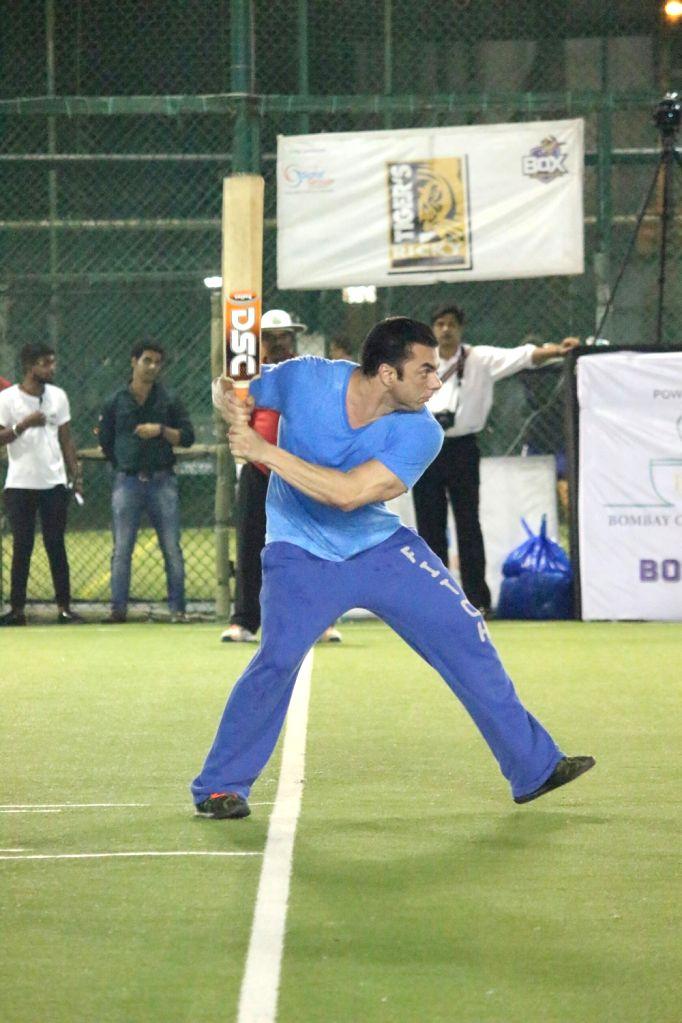 Actor Sohail Khan during a cricket match at St Andrews stadium in Mumbai on May 13, 2018. - Sohail Khan