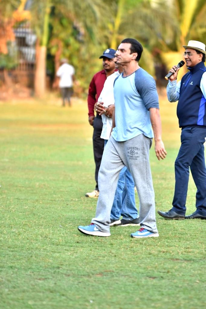 Actor Sohail Khan during Celebrity Cricket League Match in Mumbai on April 3, 2018. - Sohail Khan