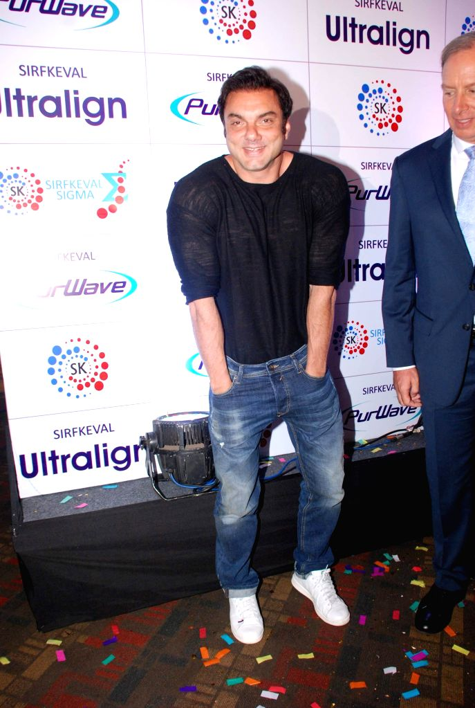 Actor Sohail Khan during the launch of beauty care system `Purwave` in Mumbai, on Aug 29, 2014.