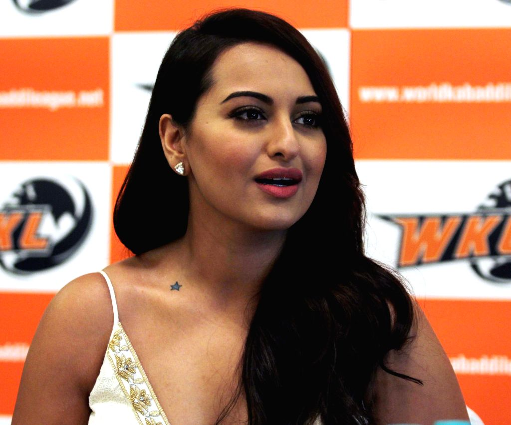 Actor Sonakshi Sinha during the announcement of her association with World Kabaddi League (WKL) at Hotel Novotel in Mumbai on July 16, 2014. - Sonakshi Sinha