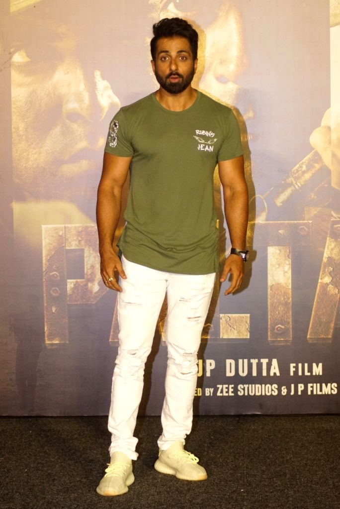 "Actor Sonu Sood at the trailer launch of upcoming film ""Paltan"", in Mumbai on Aug 2, 2018. - Sonu Sood"