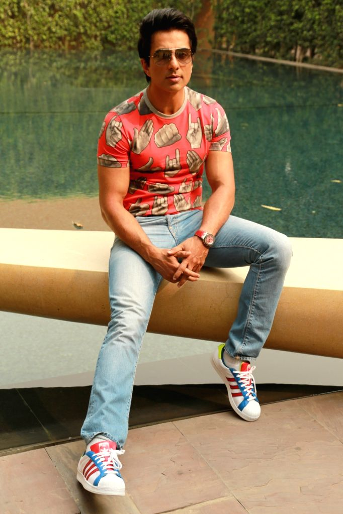 "Actor Sonu Sood during a press conference to promote his upcoming Film ""Tutak Tutak Tutiya"" in New Delhi on Oct 4, 2016. - Sonu Sood"