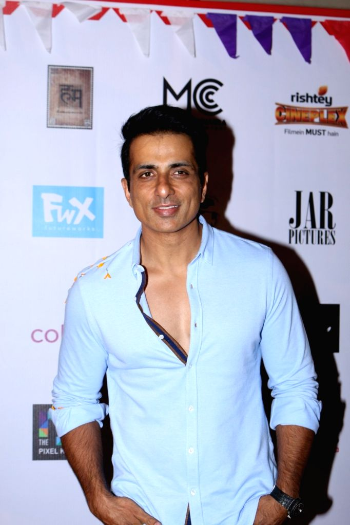 Actor Sonu Sood during the Colours Khidkiyaan Theater Festival-Day 5 in Mumbai on March 5, 2017. - Sonu Sood