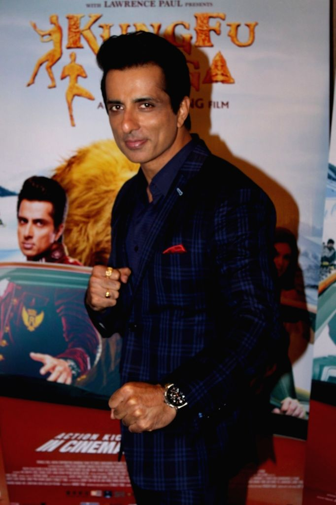 "Actor Sonu Sood during the promotion of upcoming film ""Kung Fu Yoga"" in Mumbai, on Jan 25, 2017. - Sonu Sood"