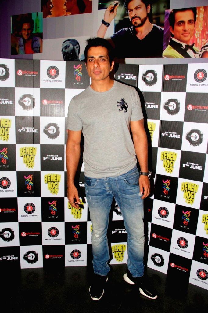 Actor Sonu Sood during the screening of film Behen Hogi Teri in Mumbai, in Mumbai, on June 8, 2017. - Sonu Sood