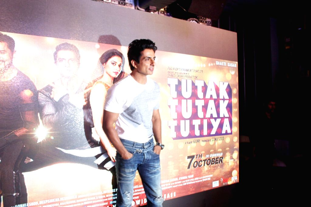 Actor Sonu Sood during the song preview of Tutak Tutak Tutiya in Mumbai on Sept 19, 2016. - Sonu Sood