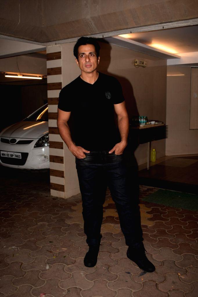 "Actor Sonu Sood host a wrap up party of film ""Paltan"" in Mumbai on Jan 29, 2018. - Sonu Sood"