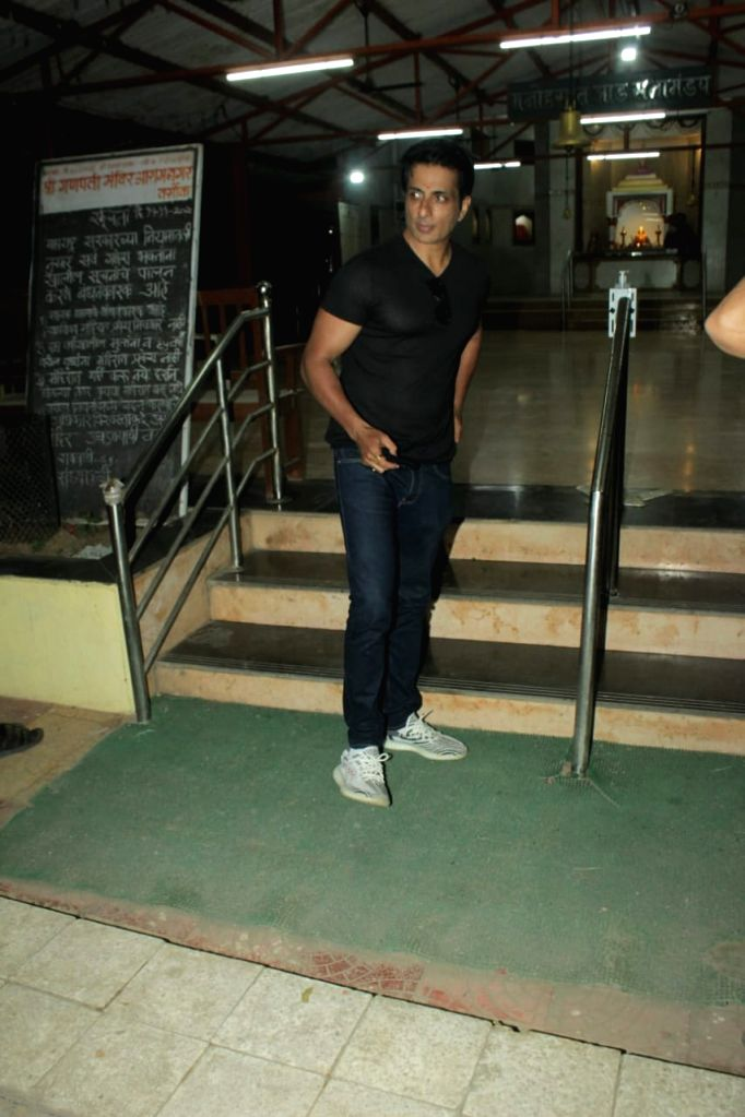 Actor Sonu Sood seen at Andheri in Mumbai on Jan 9, 2021. - Sonu Sood