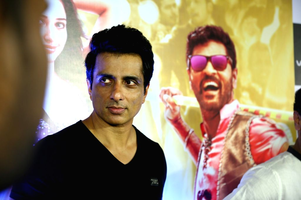 Actor Soonu Sood during the screening of film Tutak Tutak Tutiya in Mumbai on Oct. 6, 2016. - Soonu Sood