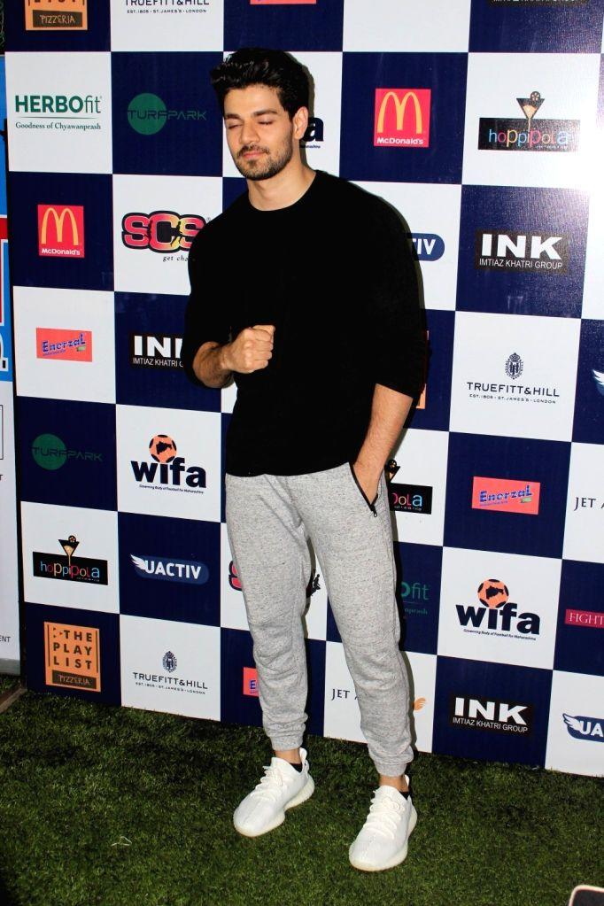 Actor Sooraj Pancholi during the first edition of Super Soccer Tournament (SST) in Mumbai on May 7, 2017. - Sooraj Pancholi