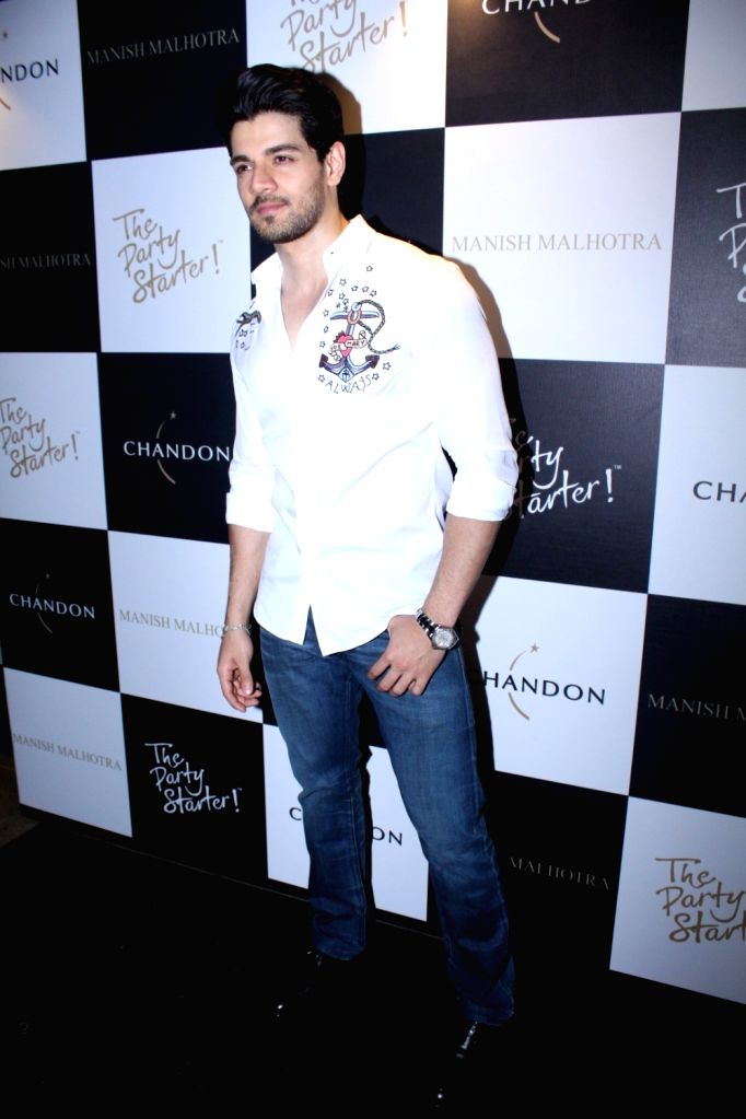 Actor Sooraj Pancholi during the launch of Manish Malhotra X Chandon Champagne bottles Limited Edition End Of Year 2017 in Mumbai on Oct 9, 2017. - Sooraj Pancholi