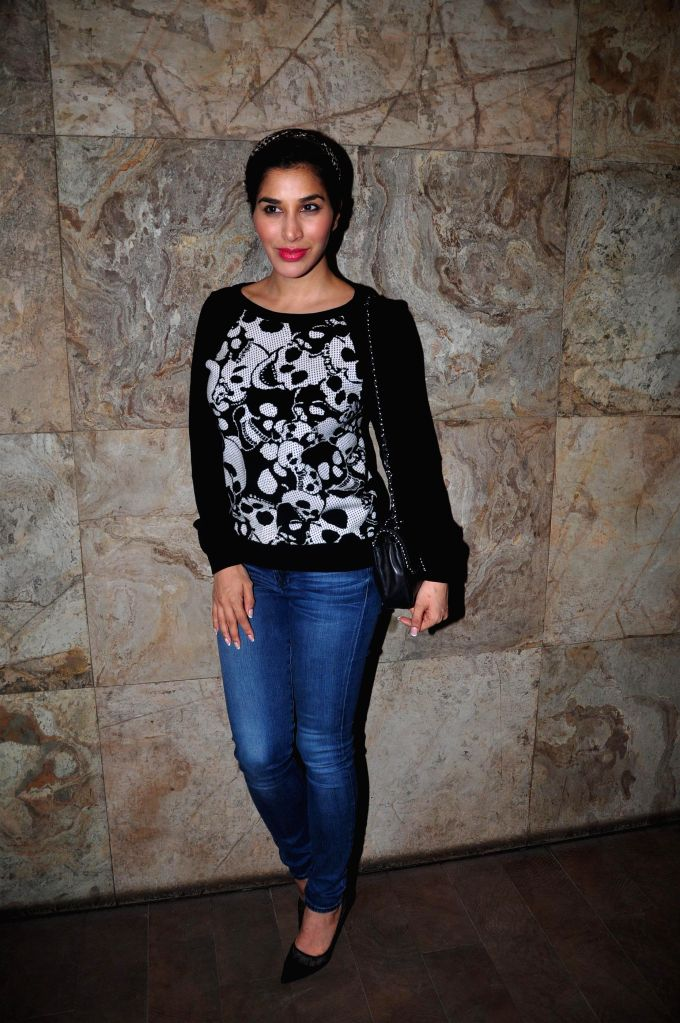 Actor Sophie Choudry during the screening of film Bobby Jasoos in Mumbai on July 3, 2014. - Sophie Choudry