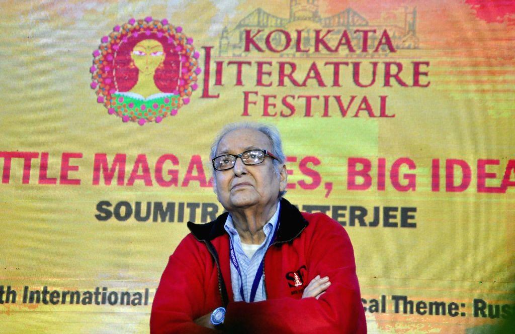 Actor Soumitra Chatterjee at 'Kolkata Literature Festival' during the 44th International Kolkata Book Fair, on Feb 6, 2020. - Soumitra Chatterjee