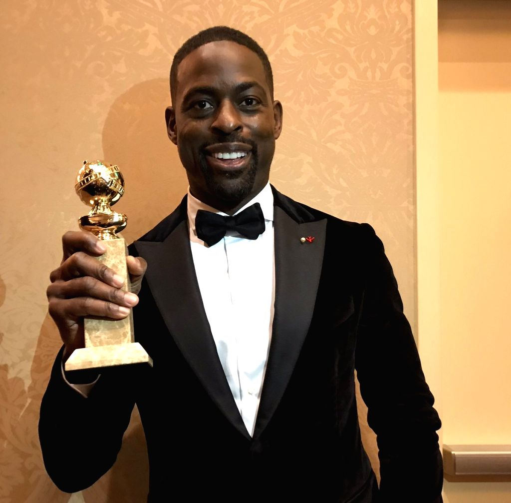 "Actor Sterling K. Brown created history by becoming the first African-American male actor to win a Golden Globe for Best Actor in a Television Drama for the role of Randall Pearson in hit series ""This Is Us"". (Photo: Twitter/@SterlingKBrown) - Sterling K. Brown"