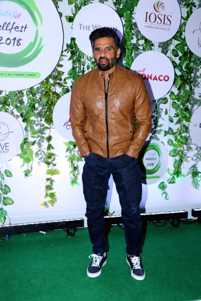 Actor Suniel Shetty at the red carpet of Asia Spa Fit & Fabulous Awards 2018 in Mumbai on Oct 30, 2018. - Suniel Shetty