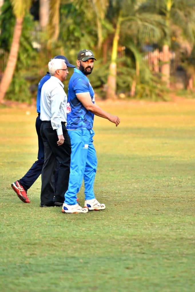 Actor Suniel Shetty during CCelebrity Cricket League Match in Mumbai on April 3, 2018. - Suniel Shetty