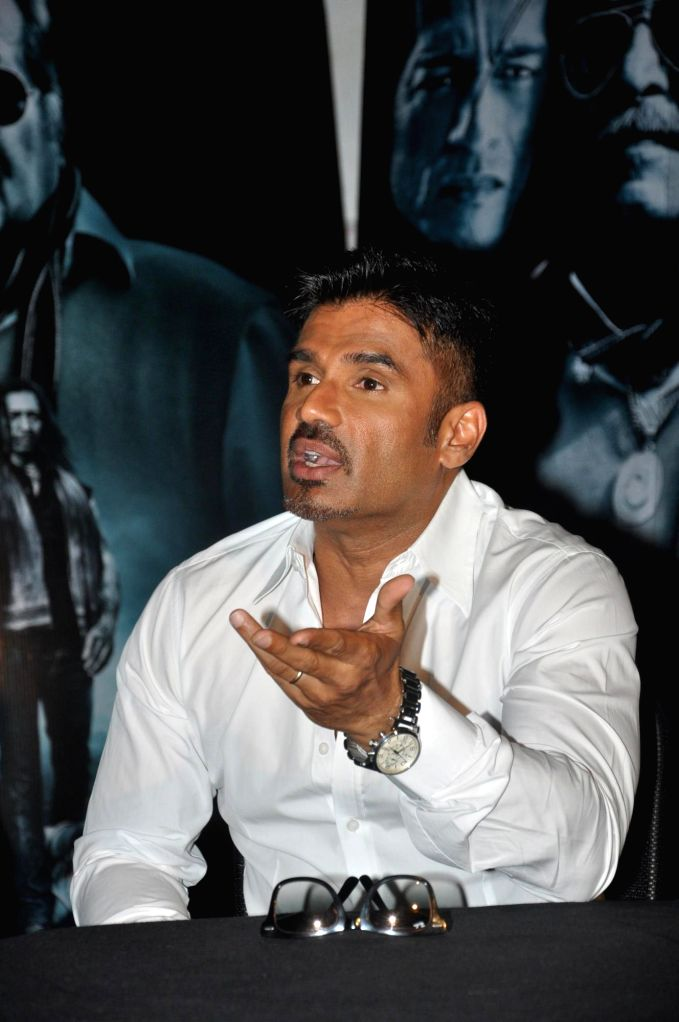 Actor Suniel Shetty during the press conference of the film Koyelaanchal in Mumbai on  May 06, 2014 - Suniel Shetty