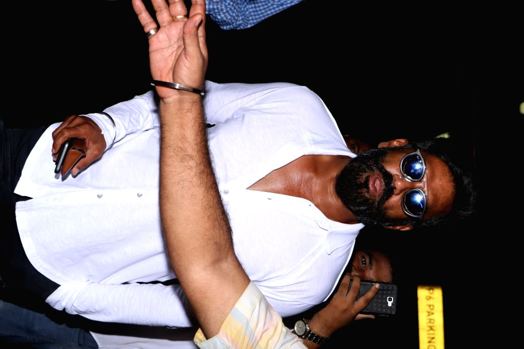 Actor Suniel Shetty spotted at airport, in Mumbai, on May 29, 2017. - Suniel Shetty