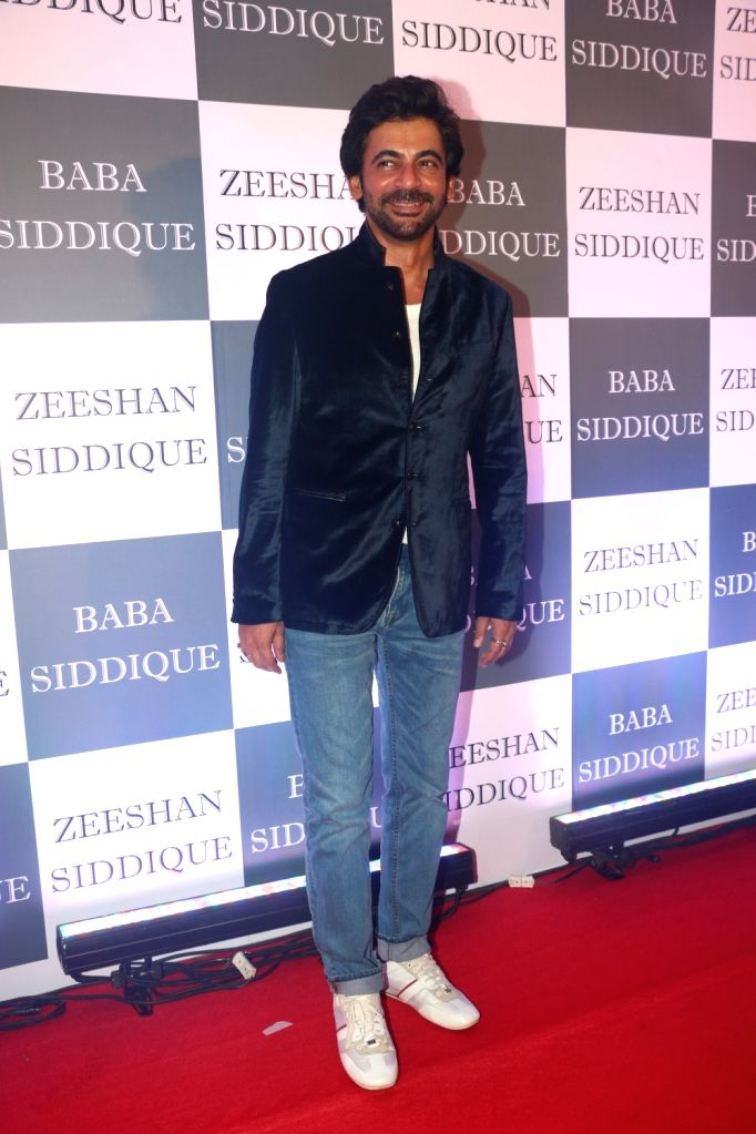 Actor Sunil Grover at Congress leader Baba Siddique's Iftar party in Mumbai, on June 2, 2019. - Sunil Grover