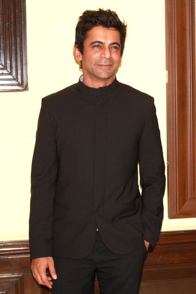 """Actor Sunil Grover during a press conference to promote their upcoming Punjabi film """"Vaisakhi List"""" in New Delhi on April 16, 2016. - Sunil Grover"""