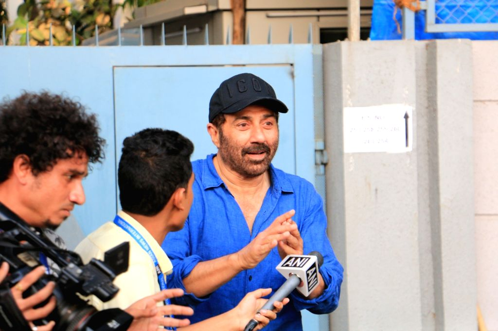 Actor Sunny Deol comes out after casting vote during the fourth phase of 2019 Lok Sabha elections, in Mumbai on April 29, 2019. - Sunny Deol