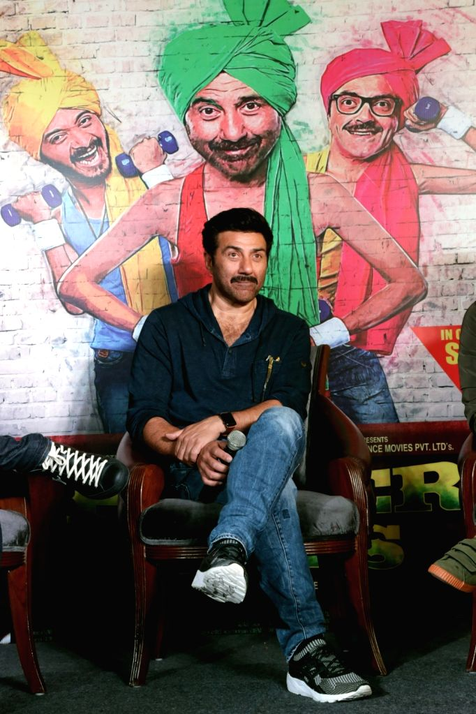 "Actor Sunny Deol during a press conference to promote his upcoming film ""Poster Boys"" on Sept 5, 2017. - Sunny Deol"