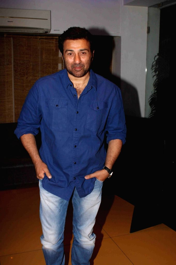 Actor  Sunny Deol during the screening of film Spectre in Mumbai on November 21, 2015. - Sunny Deol